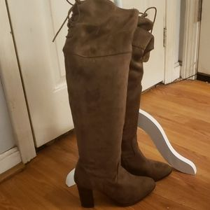 Suede Brown Over The Knee Boots 7